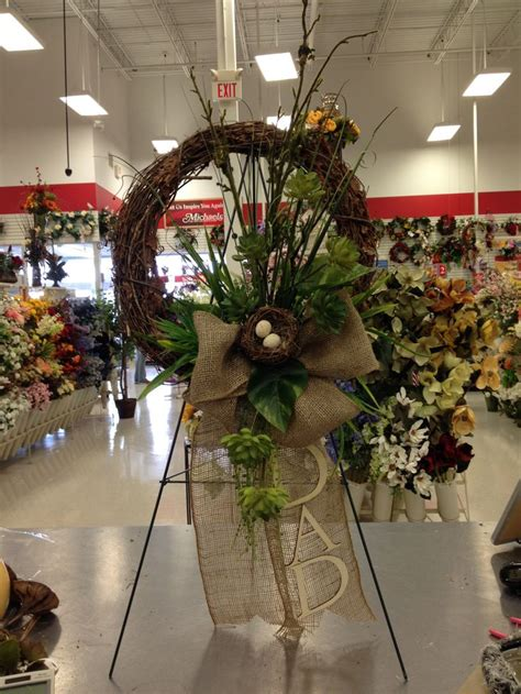 Fathers Day remembrance wreath | Memorial flowers, Grave