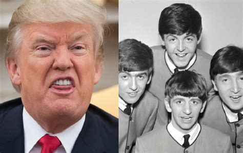 Donald Trump arrives in the UK to The Beatles classic 'We