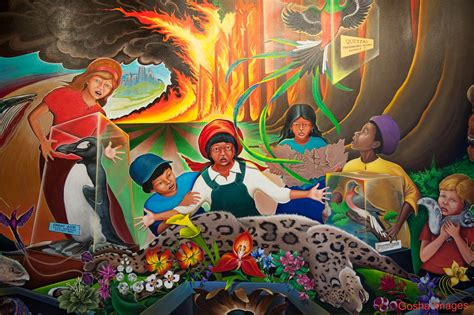 Denver Airport Mural | One of the controversial paintings