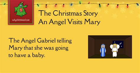An Angel Visits Mary - The History of The Christmas Story